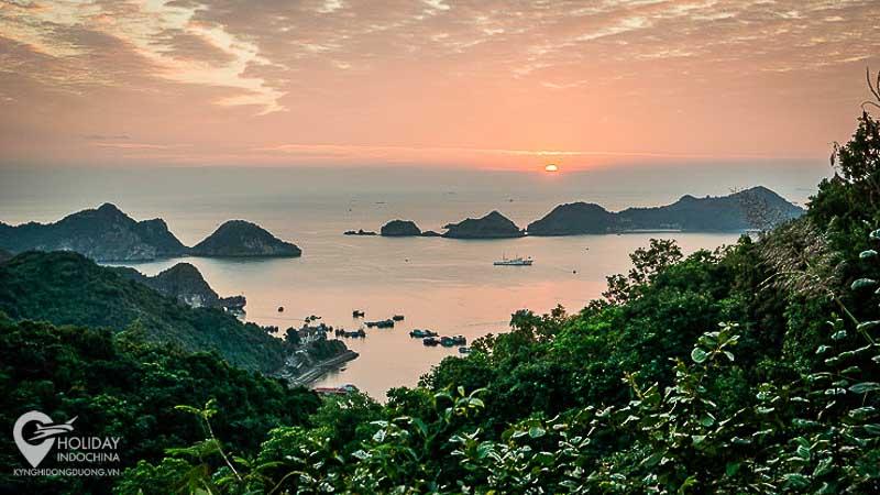 du lịch cát bà, Hoàng hôn trên vịnh Lan Hạ, ngắm từ pháo đài thần công